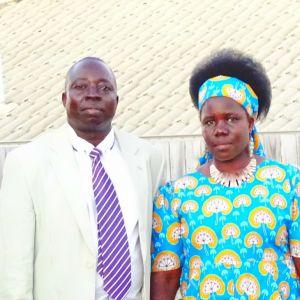Pastor Patrick Locaa and Almarina Akwero